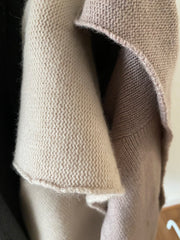 Cashmere & Wool Wrap Cardigan with hood