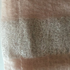 Cashmere web scarf with silver lurex stripe