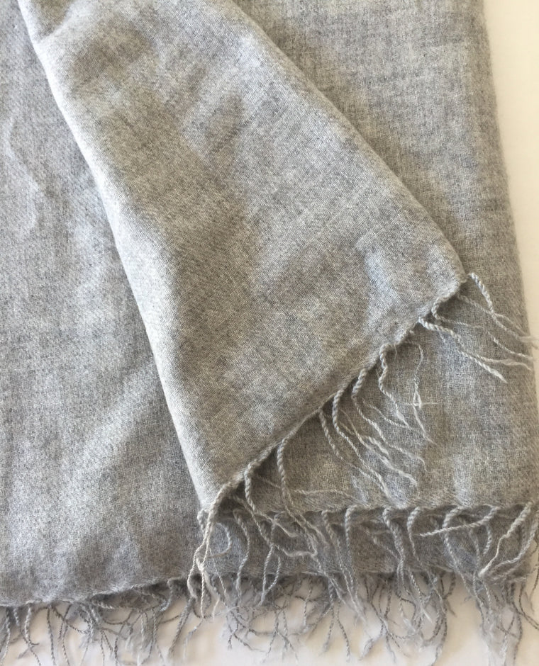 Cashmere Chai Wallah Shawl-traditional fringe