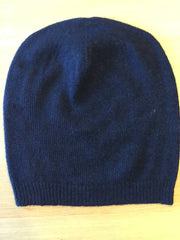 Cashmere Hat with ribbed edge