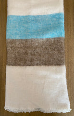 Cashmere Hand woven Thakali throws -shawls Rancho Coastal style