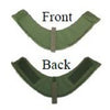 Ballistic neck protector for Molle vest