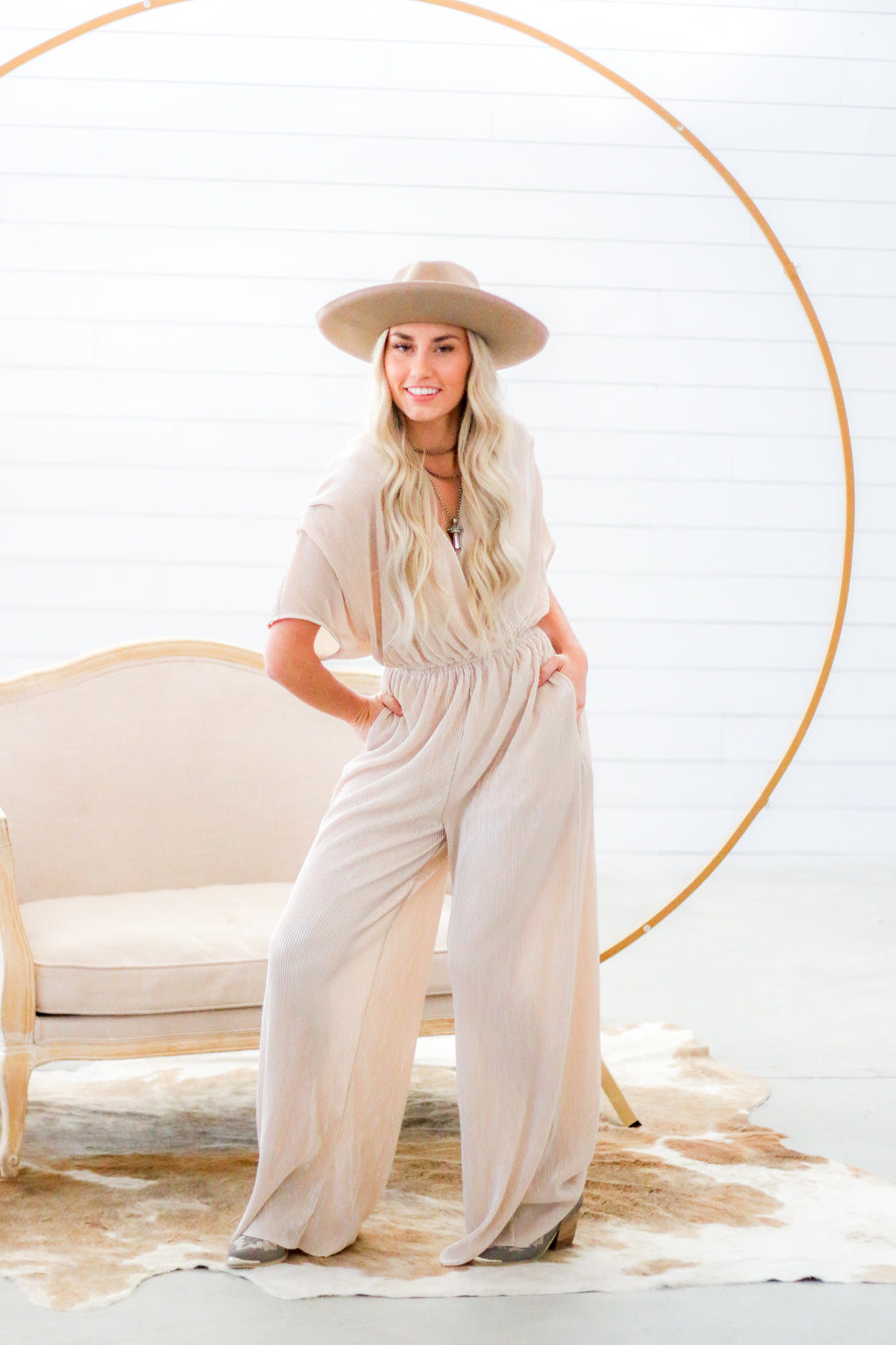 The Mistress Jumpsuit (Cream)