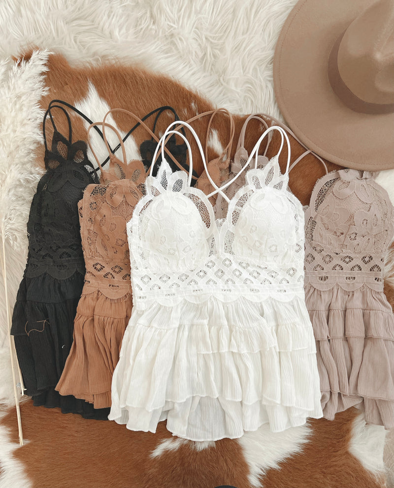 Lace Ruffle Cami Top
