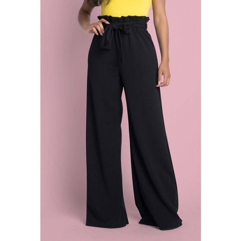 Black High Waist Trouser Pants