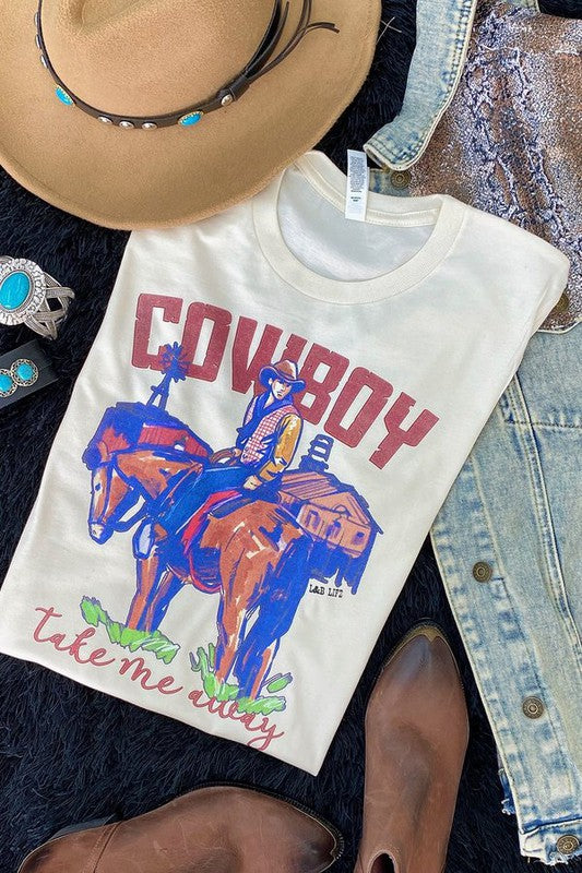 Cowboy Take Me Away Tee🌵 (cream)