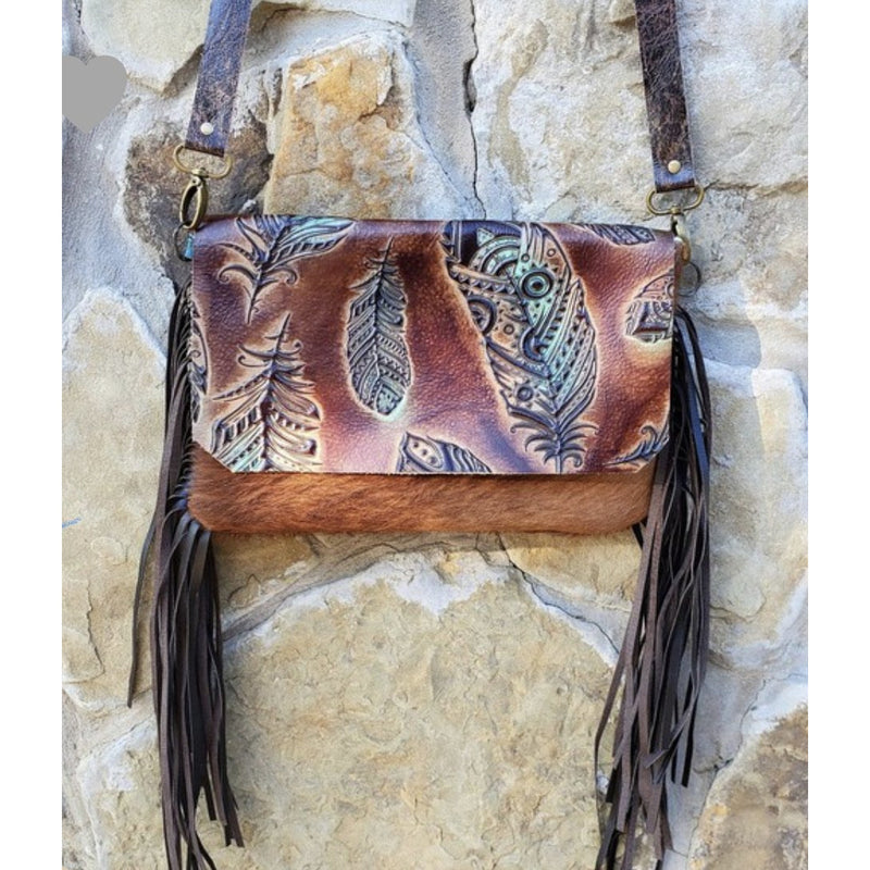Feather Purse Clutch