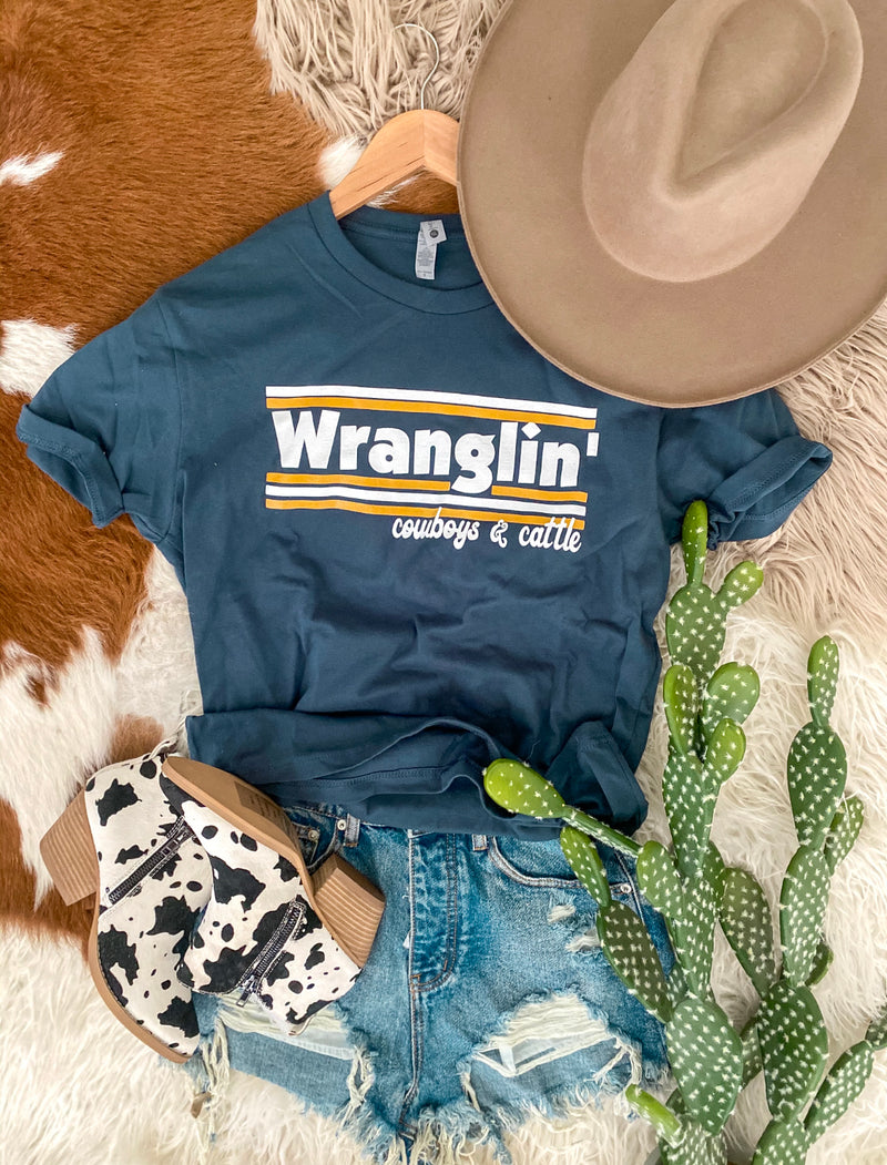 Wranglin' Cowboys & Cattle Tee