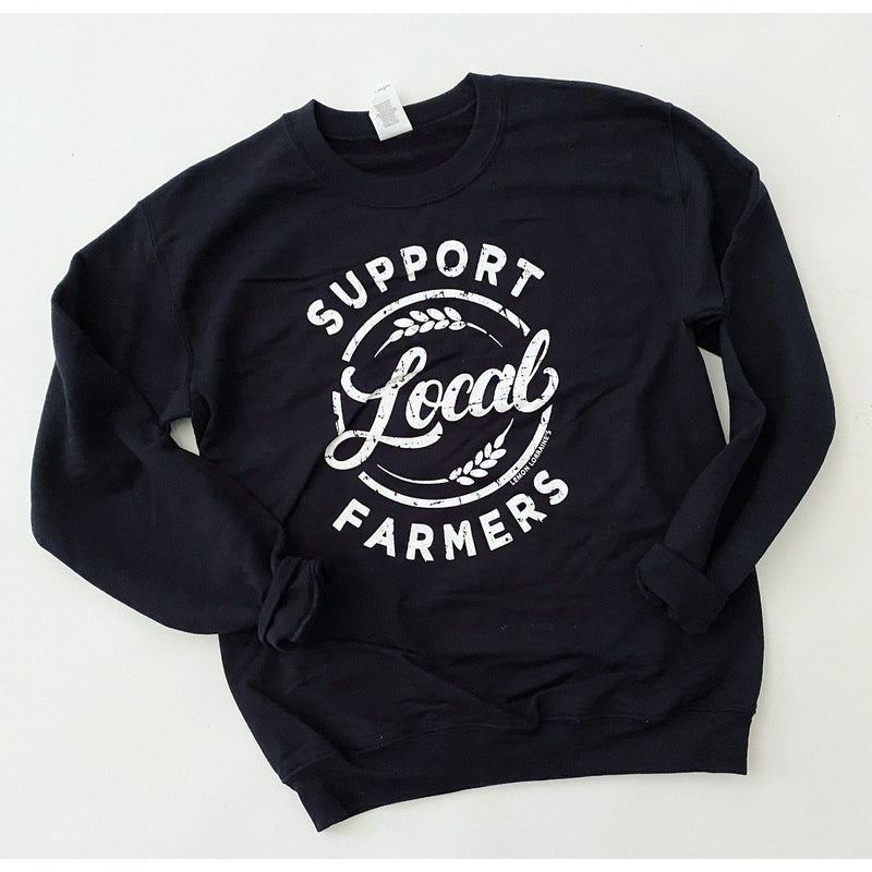 Support Your Local Farmers Sweatshirt (black)