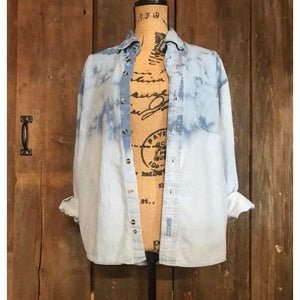 Bleached Denim Buffalo button down
