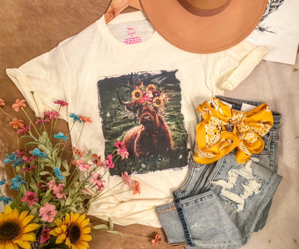 Sunflower Extra Cow Tee