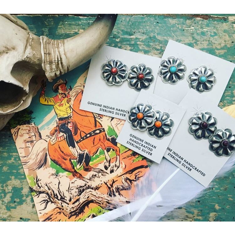 Concho Stud Earrings