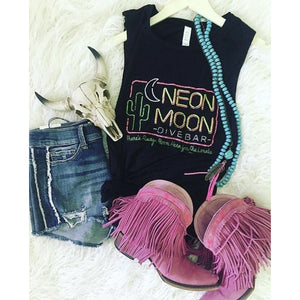 Neon Moon Dive Bar Muscle Tank
