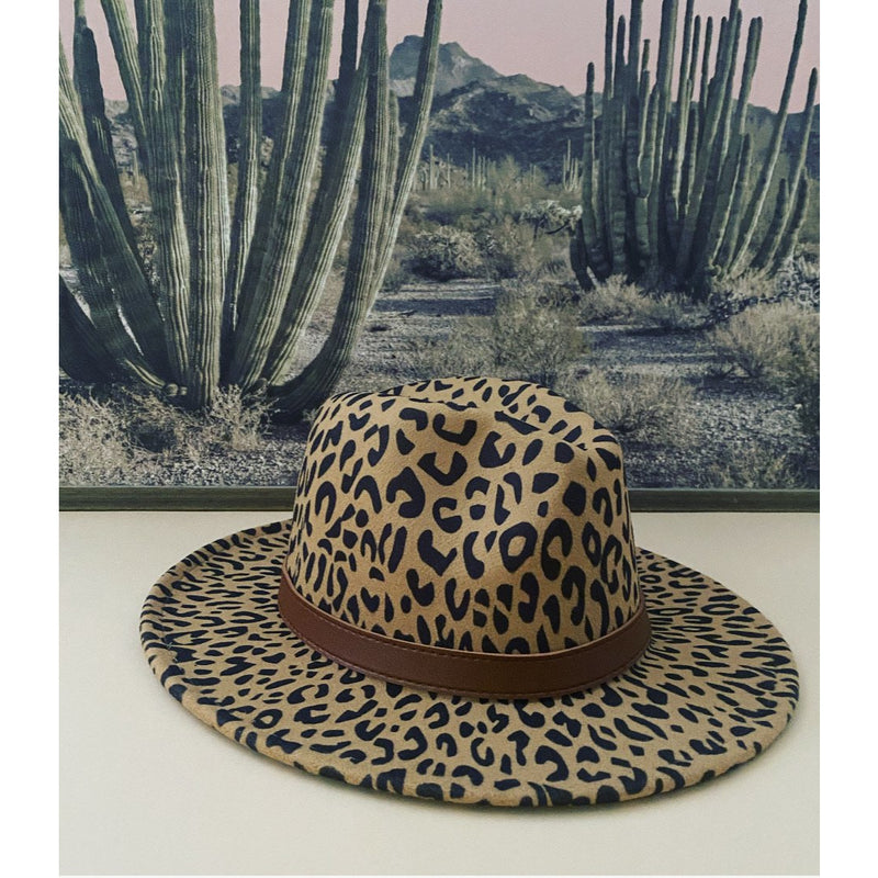 That Girl Hat (leopard brown)