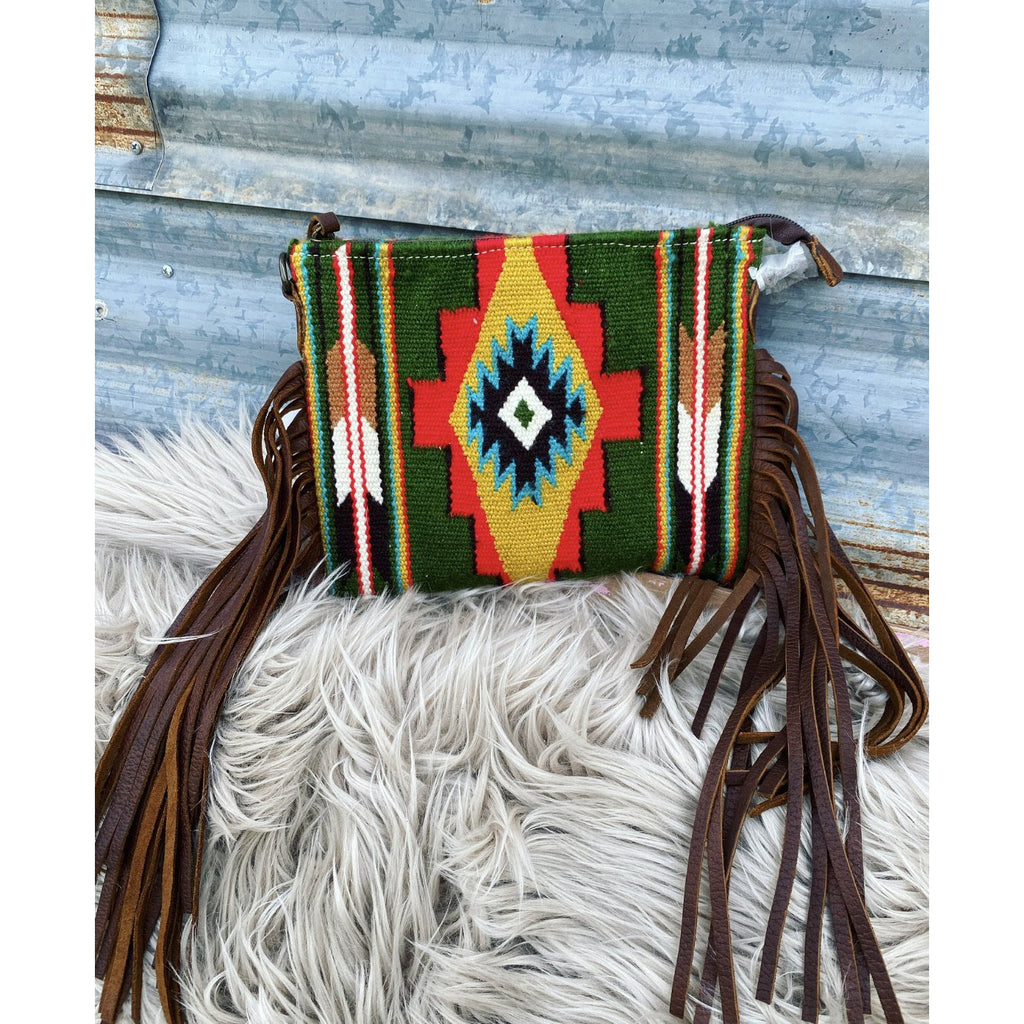 Simple Cowgirl Saddle Blanket Purse (green)