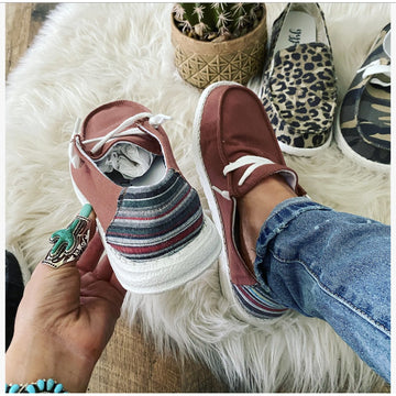 Rust Is A Must Sneaker (serape back)