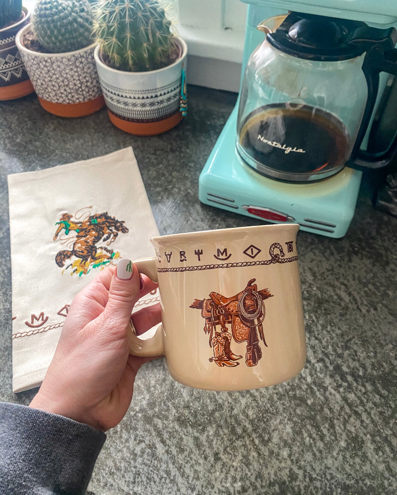 Here For The Ride - Saddle Coffee Mug