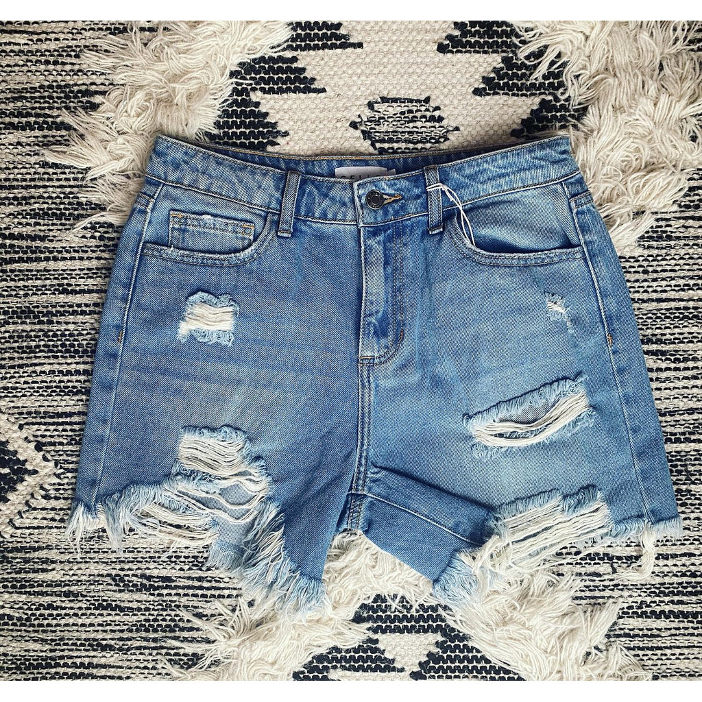 Denim Darlin Distressed Cut Off's (c)