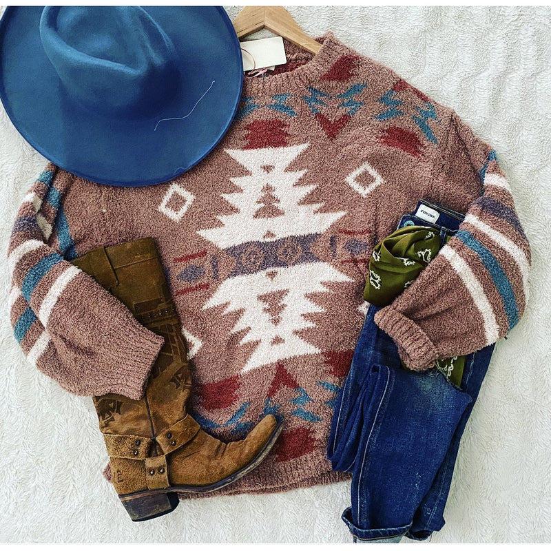 Mustang Sally Aztec Sweater (Camel)