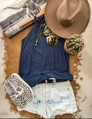 Main Squeeze Plain Jane Tank (denim)