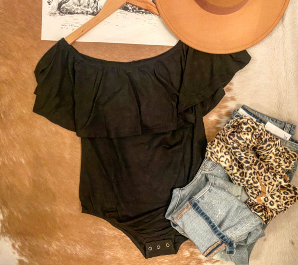Off The Shoulder Bodysuit (black)