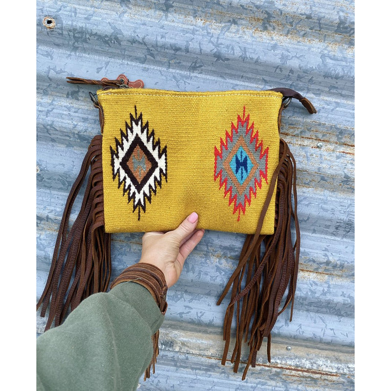Simple Cowboy  Saddle Blanket Purse (yellow)
