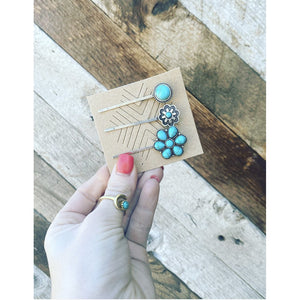 Turquoise Hair Pins