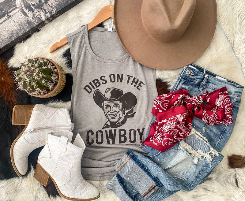 Dibs On The Cowboy Muscle Tank