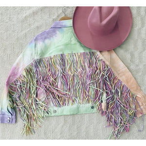 Unicorn Life Fringe - Denim Jacket