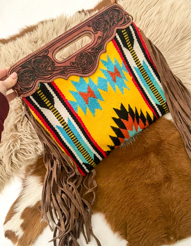 Rough Rider Bandit Clutch Style Saddle Blanket Purse