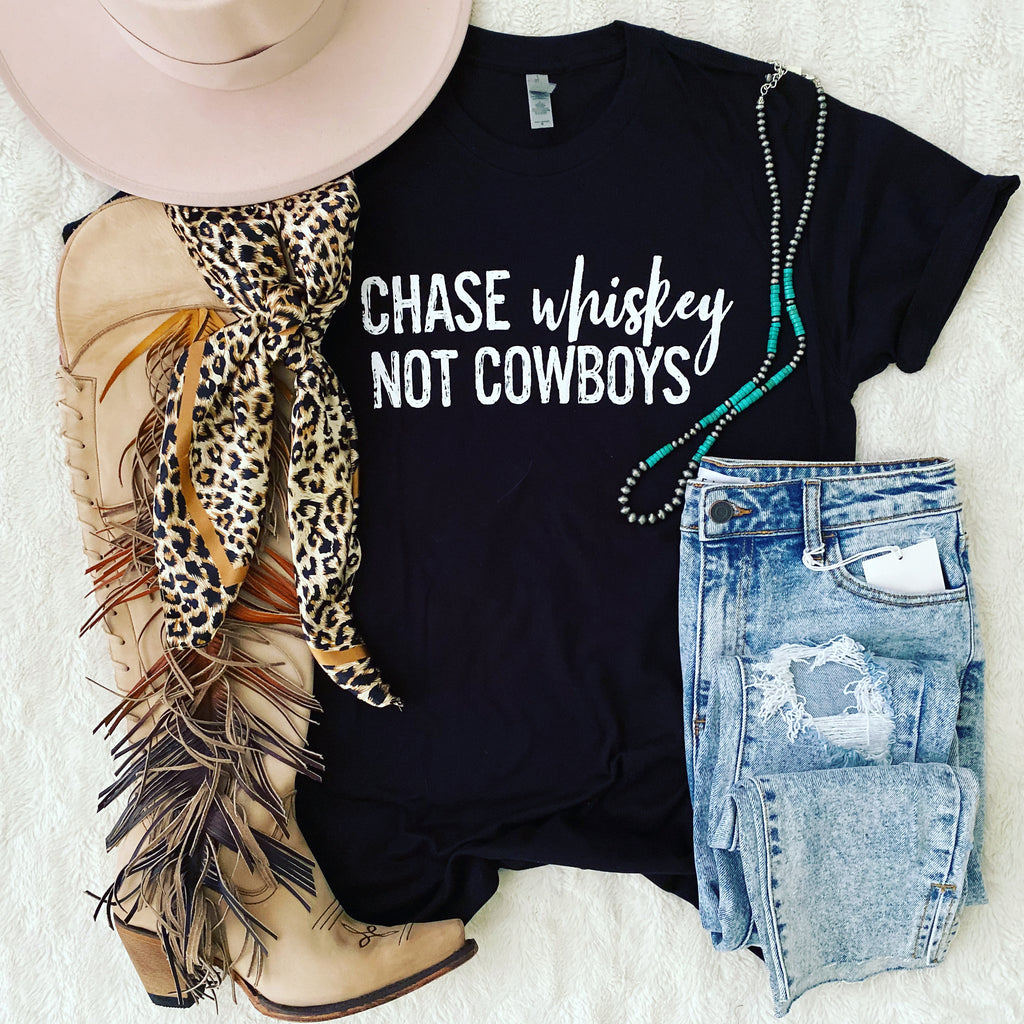 Chase Whiskey, Not Cowboys Tee (blk)