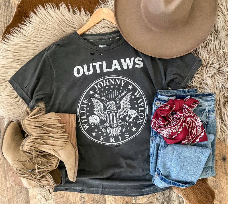Outlaw Distressed Tee