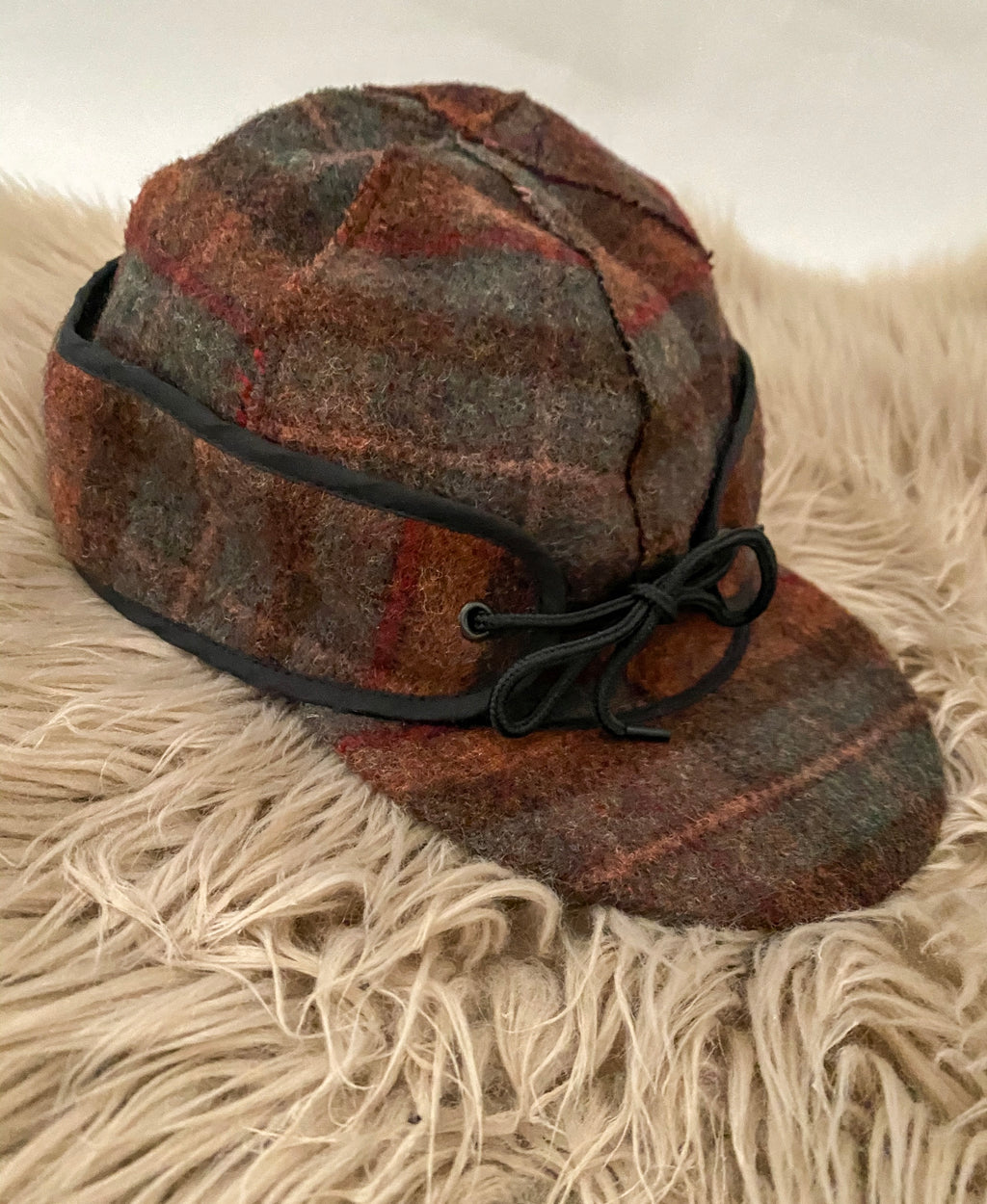 (Tan) Plaid Railroad Cap