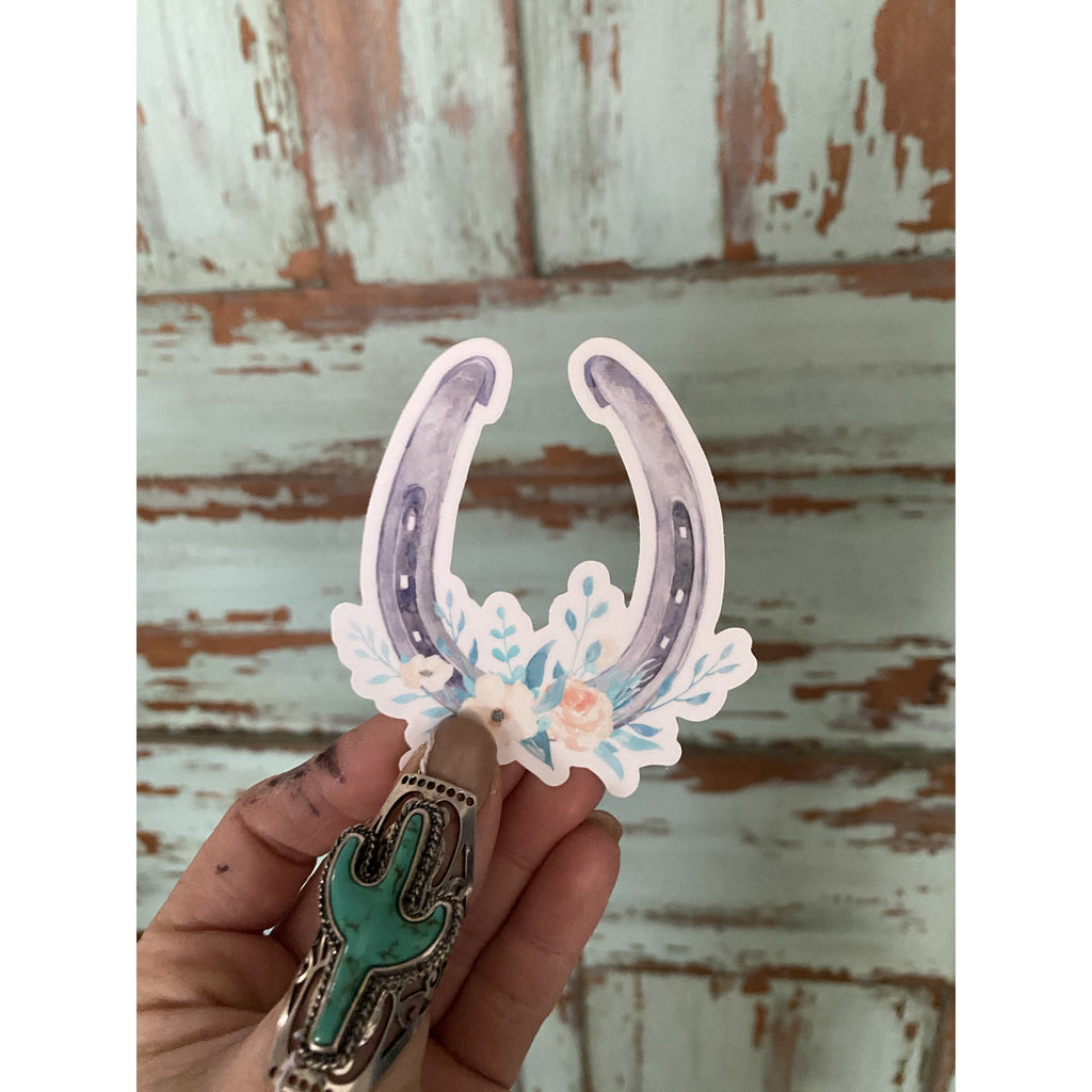 Queen of the Rodeo Horseshoe Sticker