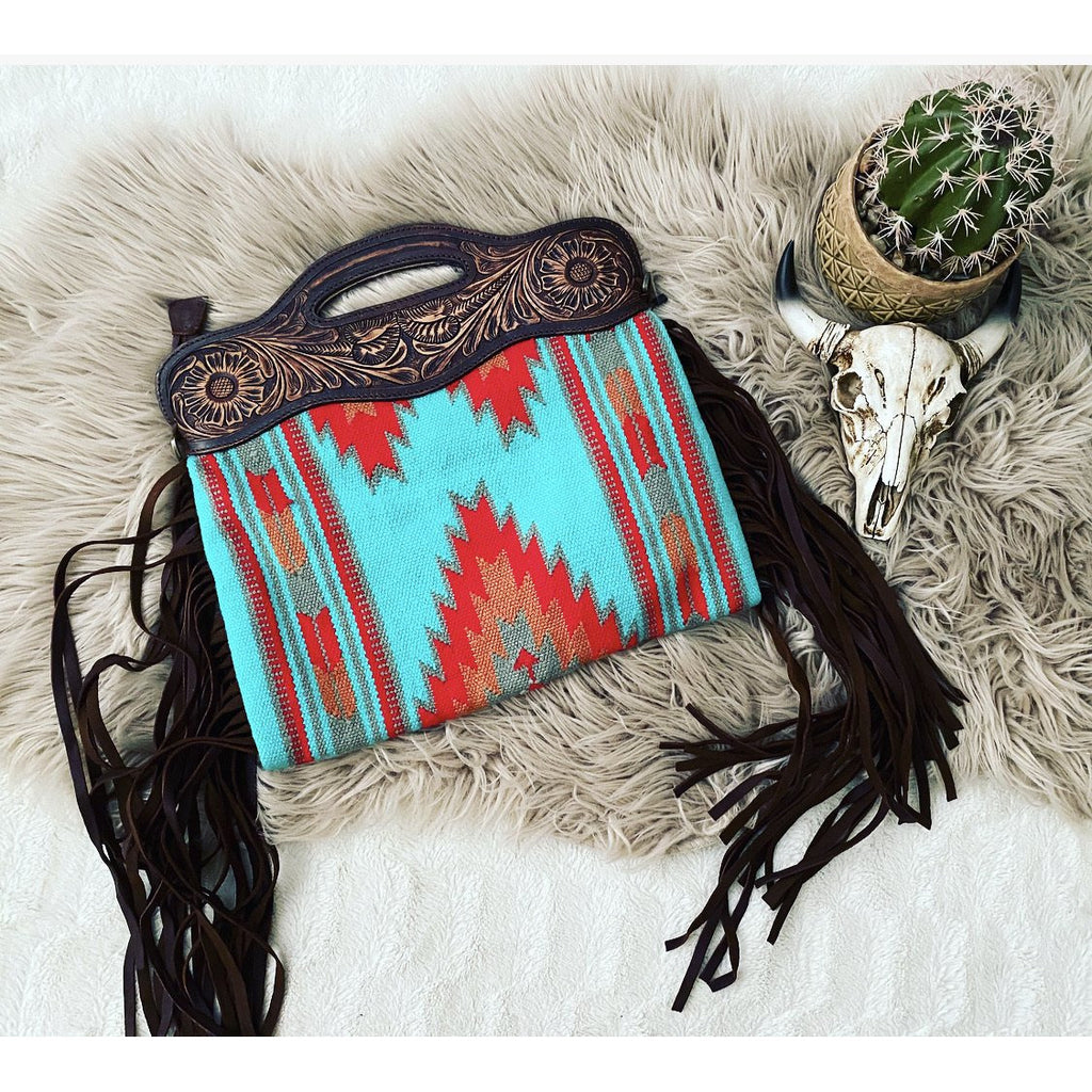 The hideaway Cowboy Saddle Blanket Purse
