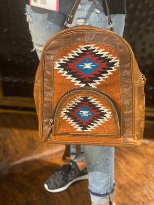 Saddle Blanket Back Pack (rust)