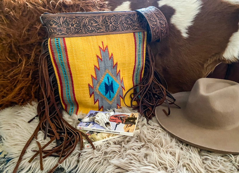 The Sunny Desert  Saddle Blanket Purse (brown)