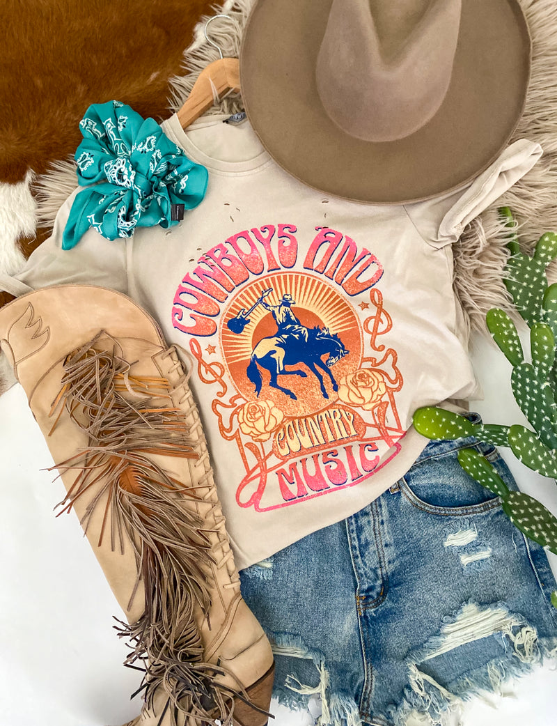 Cowboys & Country Music Tee (taupe)