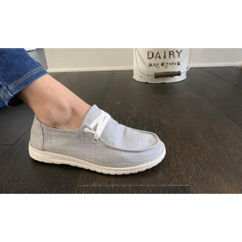 Grey line Sneakers (light grey)