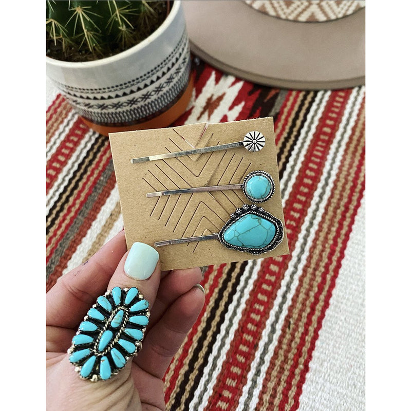 The Rock • Turquoise Hair Pins