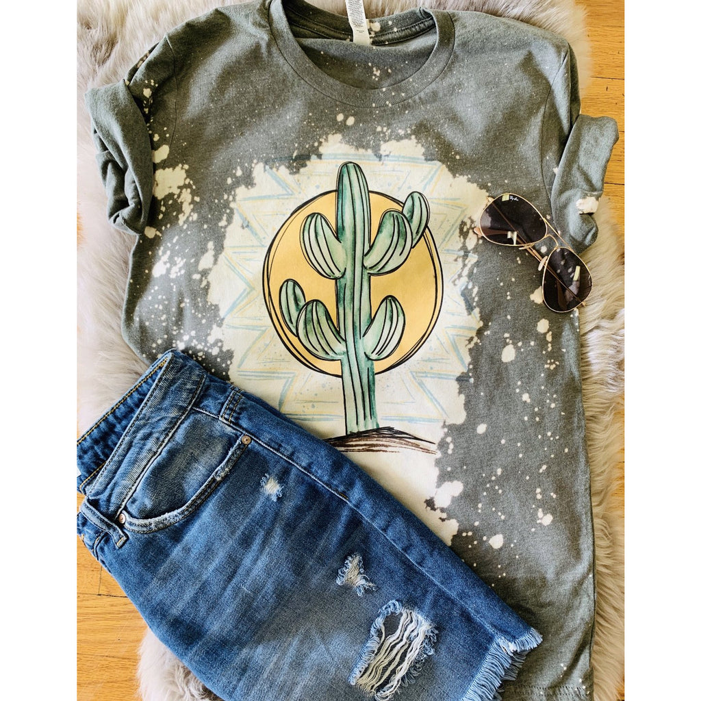 Stand Tall High Bleached Tee (sage)