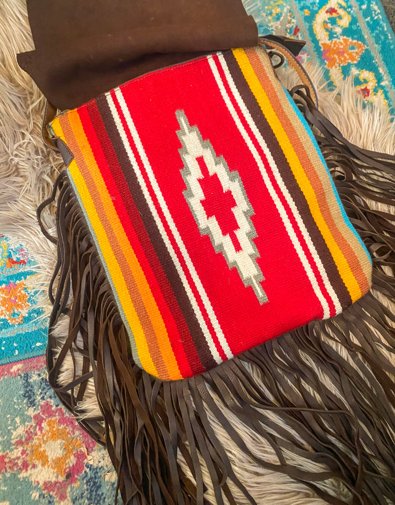 The Wild River Saddle Blanket Purse (red)