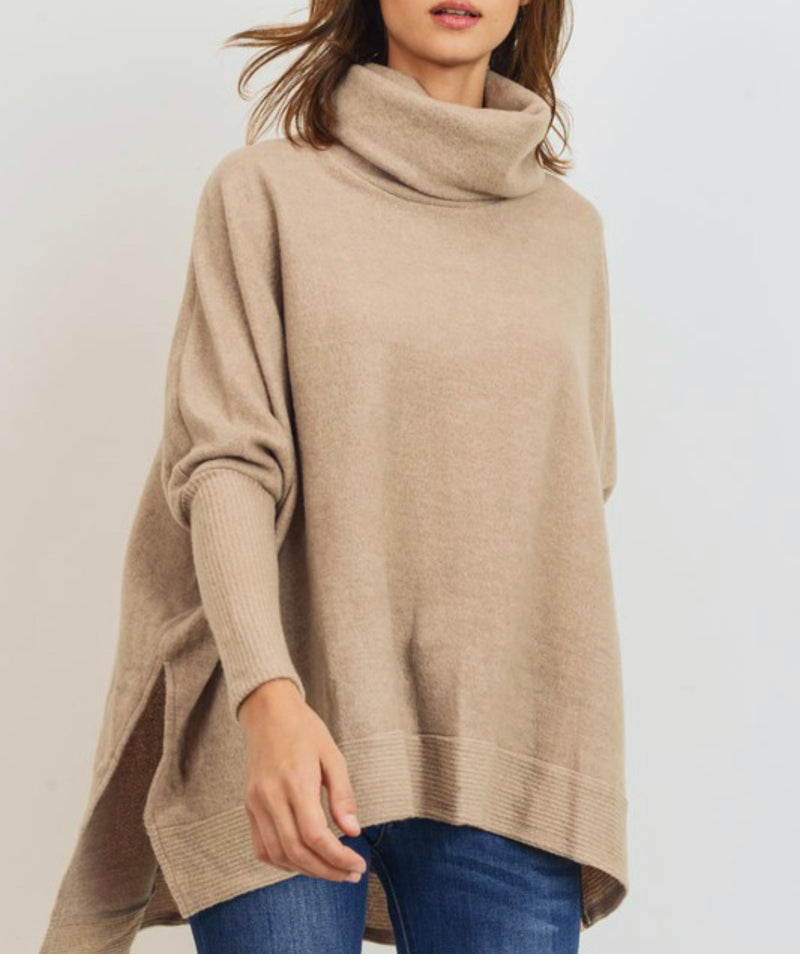 Cowl Neck Sweater (taupe)