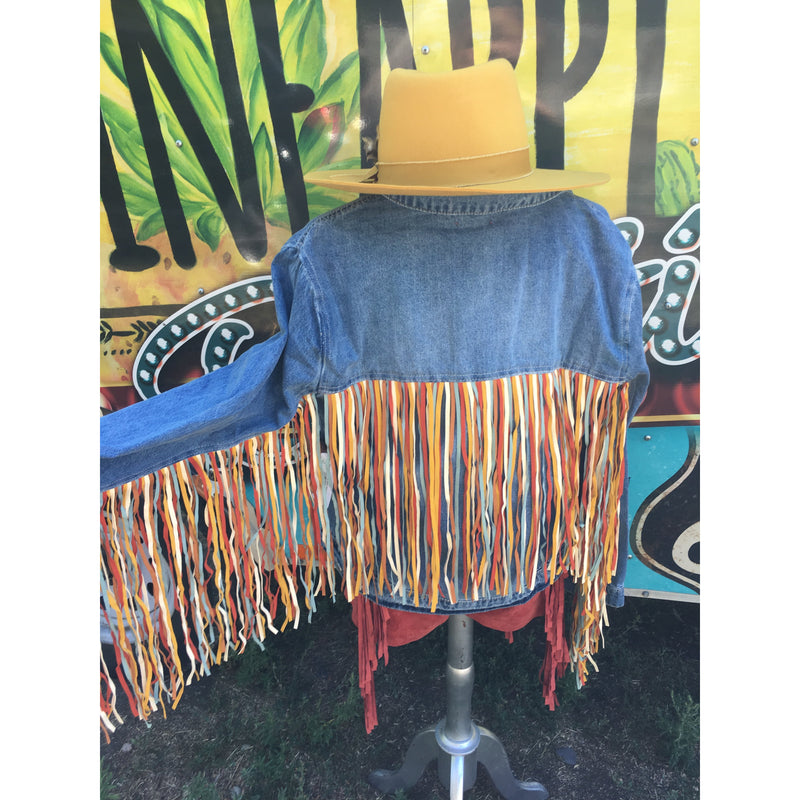 Colors of Life Fringe - Denim Jacket