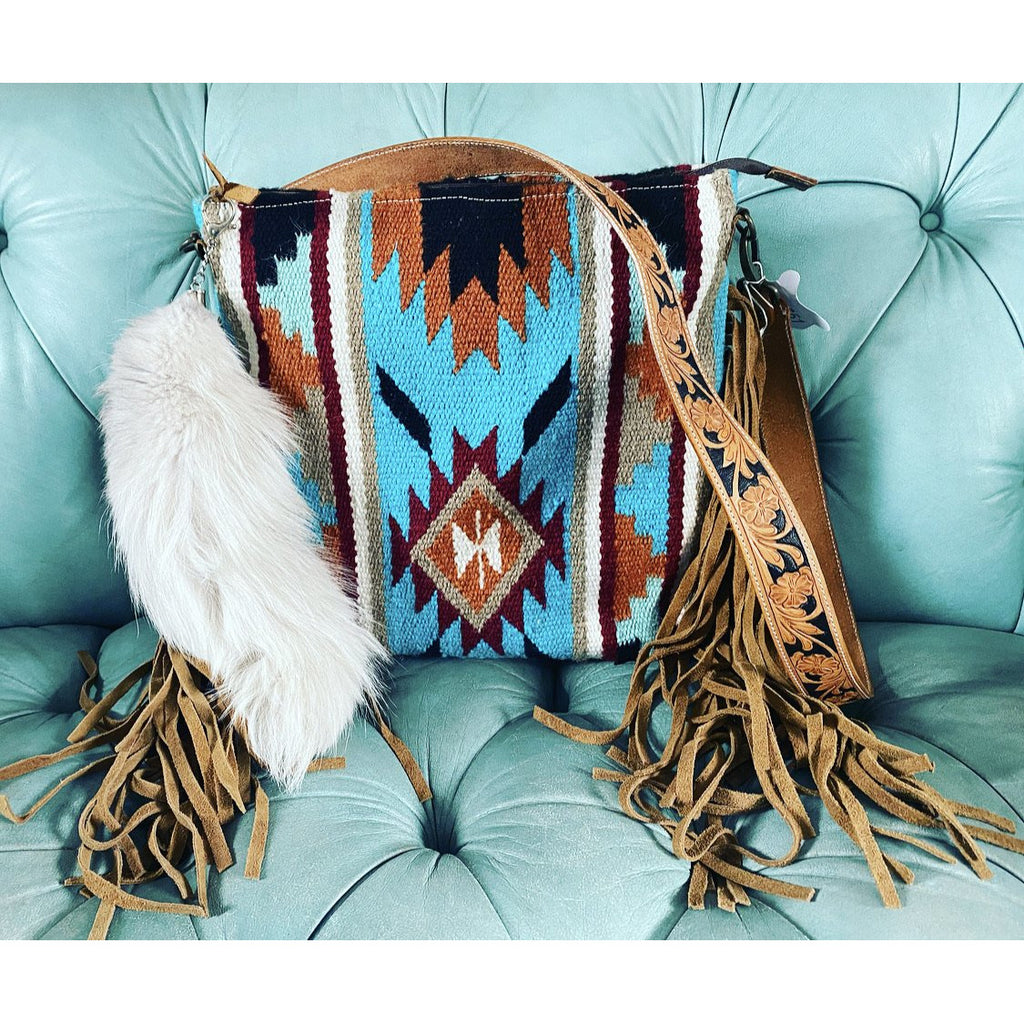 Blue Eyed Baby Bandit Saddle Blanket Purse