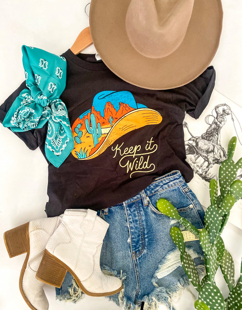 Keep It Wild West - Cowboy Hat Tee