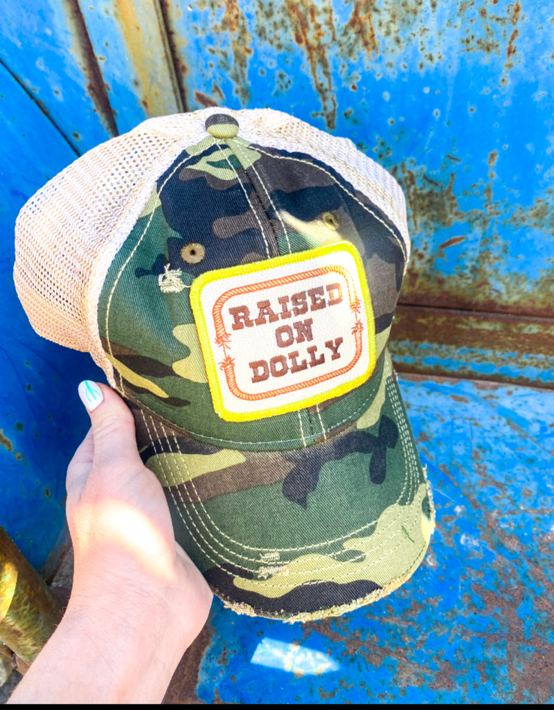 Raised On Dolly Hat ( Camo)