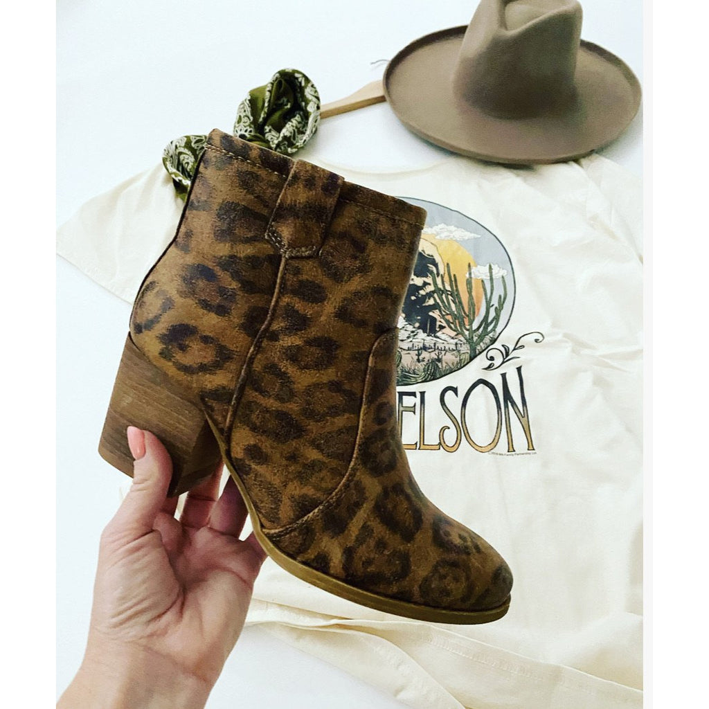 She's A Wild One Leopard Booties