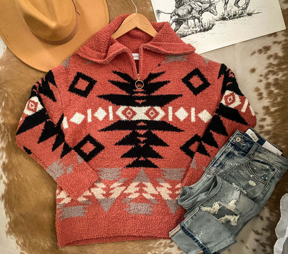 Mustang Sally Aztec Sweater (Pullover)