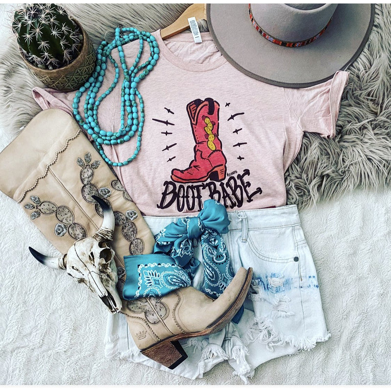 Boot Babe Tee (Pink)